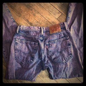 """Levi's 512 pink acid wash """"mom"""" jeans"""
